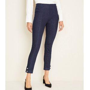 Ann Taylor Pearlized Button Hem Skinny Jeans 2